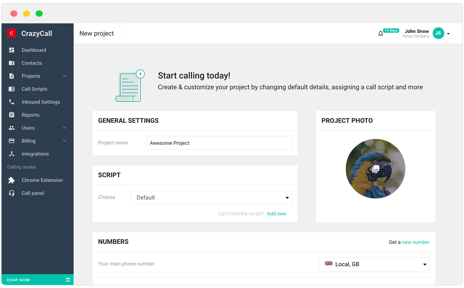 How To Create A Project – CrazyCall Knowledge Base